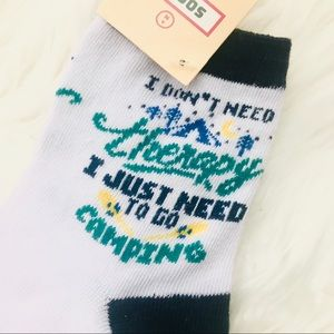 Camping is Therapy 🏕 🧦 Socks Stocking Stuffer